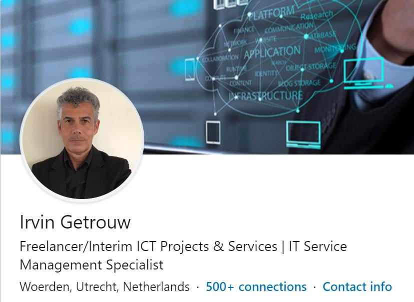 LinkedIn profiel Irvin Getrouw